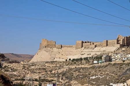 Fortified town of Kerak, Jordan, the ancient Roman garrison