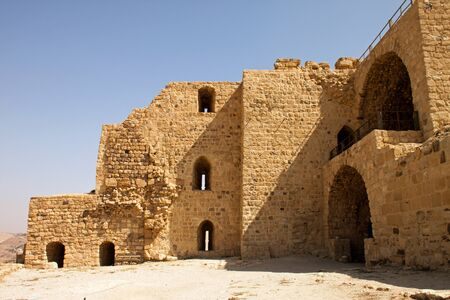 walls of the fortified town of Kerak, Jordan, the ancient Roman garrison