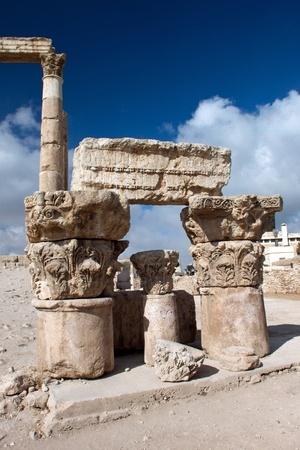sight of the ruins of the ancient Pillars of Hercules in Amman, Jordan photo