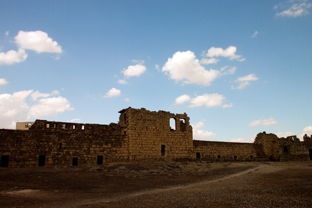 Al Azraq Castle ruins, desert castle of Jordan photo