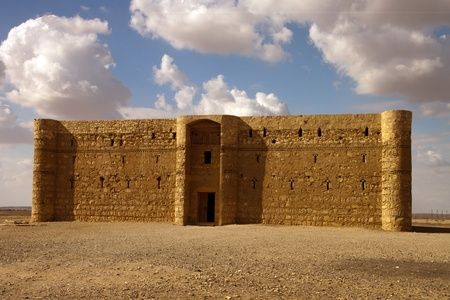 Kaharana desert castle in Jordan Stock Photo
