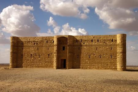 Kaharana deserto castello in Giordania Archivio Fotografico