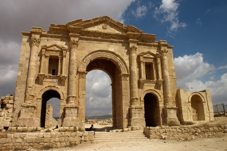 hadrian: Ancient Jerash. Ruins of the Greco-Roman city of Gera at Jordan