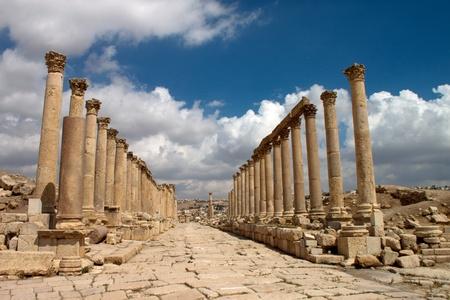 Ancient Jerash. Ruins of the Greco-Roman city of Gera at Jordan photo