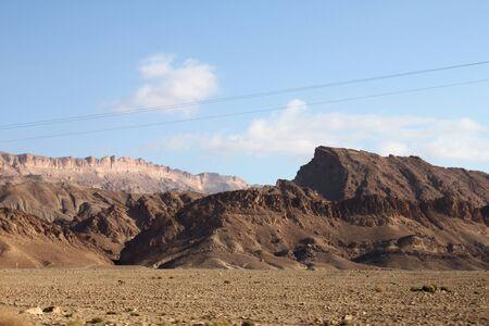 Mountain View of the rocky desert oasis of Tozeur, Tunisia photo