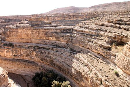 hummock: Mountain View of the rocky desert oasis of Tozeur, Tunisia Stock Photo