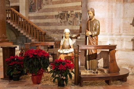 crib interior of the Church ilica of San Zeno Verona - Italy