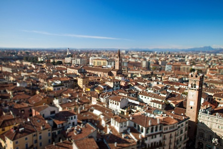 Aerial view of Verona - Veneto in Italy Tonemapped photo