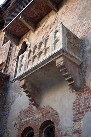 View of Balcony of Juliet (Romeo and Juliet) Verona Veneto Italy Stock Photo - 12288578