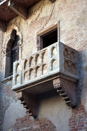 View of Balcony of Juliet (Romeo and Juliet) Verona Veneto Italy photo