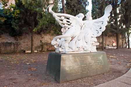 Romeo and Juliet Memorial Monument near the tomb of Juliet Stock Photo - 12262304