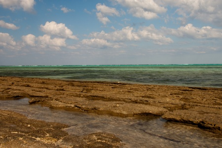 marsa: Beach view of Marsa Alam Red Sea, Egypt Stock Photo