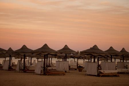 alam: Beach view of Marsa Alam Red Sea, Egypt Stock Photo