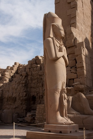 Statue of Ramses II in Karnak temple in Luxor, Egypt photo