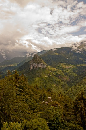Mountains of the province of Bergamo, Italy photo