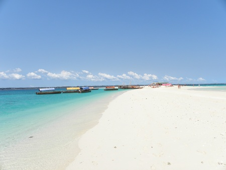 Zanzibar Island of Tanzania with its white sandy beaches Stock Photo
