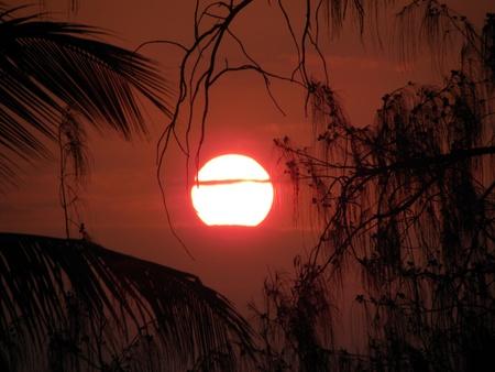 View a spectacular sunset over the sea of Zanzibar, Tanzania photo