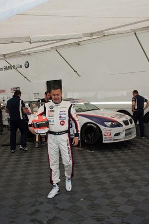 pilota di auto da corsa, Rally di Monza, Monza, Italia Editoriali