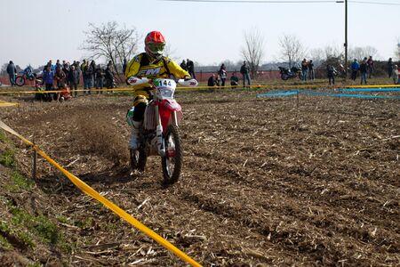 Cerro al Lambro, Lombardia  Italia - 11 marzo 2012 - Lombardia Campionato Regionale Enduro organizzata dal Motoclub Melegnano Editoriali