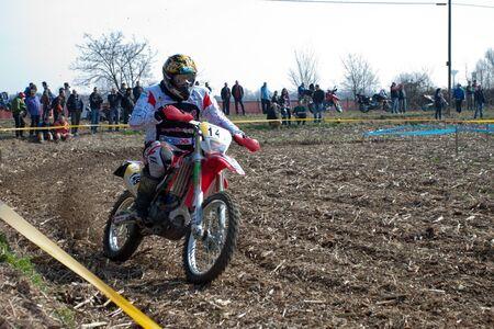 Cerro al Lambro, Lombardy / Italy - March 11, 2012 - Lombardy Regional Championship Enduro organized by Motoclub Melegnano Stock Photo - 12572984