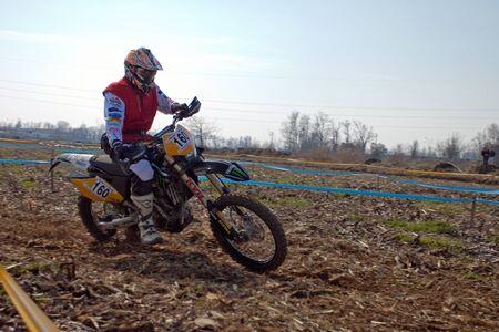 Cerro al Lambro, Lombardy / Italy - March 11, 2012 - Lombardy Regional Championship Enduro organized by Motoclub Melegnano Stock Photo - 12572970