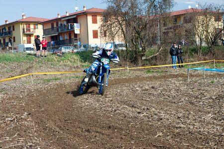 motoclub melegnano: Cerro al Lambro, Lombardy  Italy - March 11, 2012 - Lombardy Regional Championship Enduro organized by Motoclub Melegnano