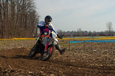 Cerro al Lambro, Lombardy  Italy - March 11, 2012 - Lombardy Regional Championship Enduro organized by Motoclub Melegnano