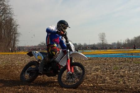regionale championship: Cerro al Lambro, Lombardy  Italy - March 11, 2012 - Lombardy Regional Championship Enduro organized by Motoclub Melegnano