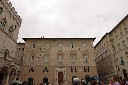 historic palace in the center of Perugia, Italy