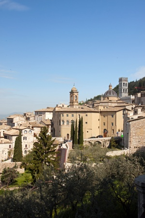 umbria: Panoramic view of the old city of Assisi, Umbria - Italy