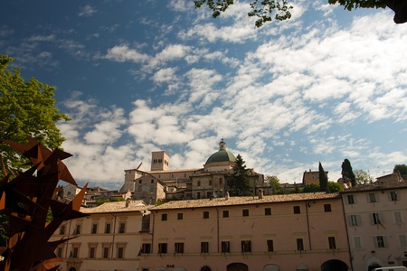 view of the church in Assisi, Umbria - Italy photo