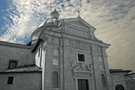 Frontal view of the church of Assisi, Umbria - Italy photo