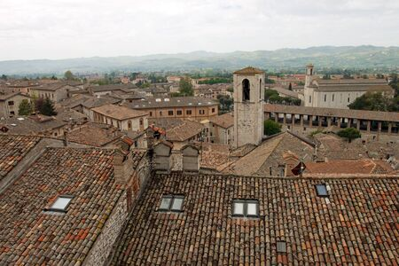 Panoramic view of the city of Gubbio, Umbria - Italy photo