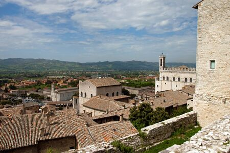 Panoramic view of the city of Gubbio, Umbria - Italy photo