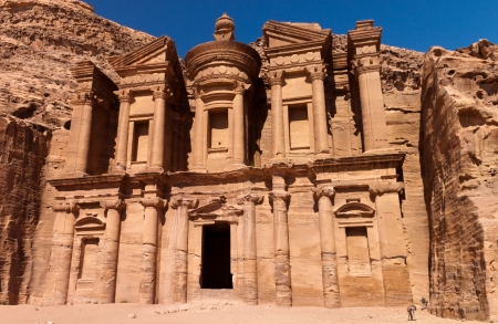 of petra: Monastery of the city of Petra, Jordan Editorial