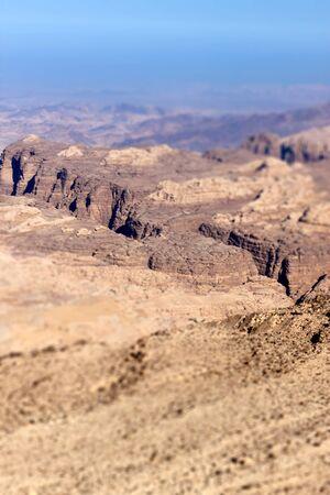 Rocky desert of southern Jordan in Asia Stock Photo - 13987351