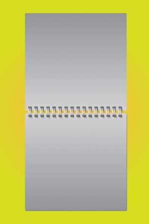 diary ring on a yellow background Vector