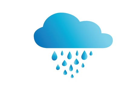 Icon rainy weather Vector