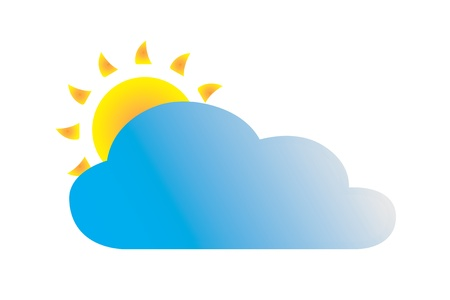 Cloudy weather icon Stock Vector - 14181775