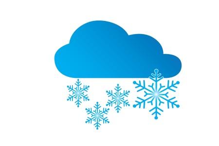 Icon weather snow Vector