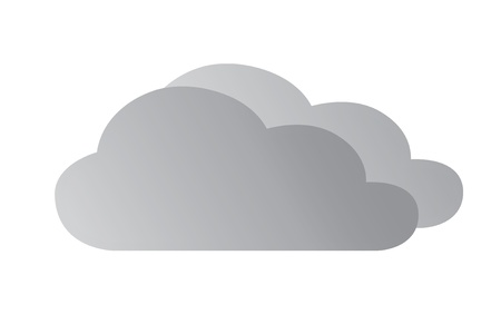 Cloudy weather icon Stock Vector - 14181779
