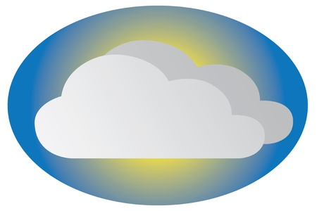 """weather icon"": Cloudy weather icon"