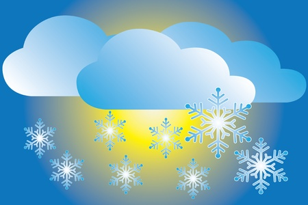 weather icon snowfall Vector