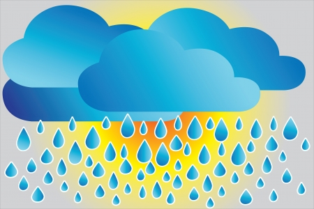 Icon rainy weather Stock Vector - 14194625