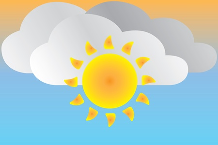 Icon sunny weather Stock Vector - 14194624
