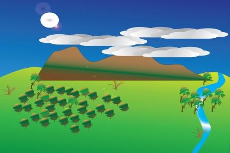 mountain landscape Stock Vector - 14282878