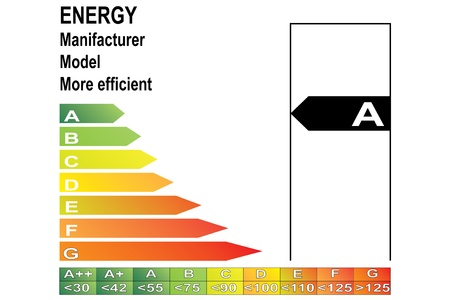 energy label Stock Vector - 14403792