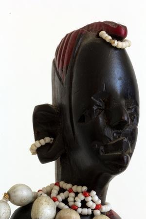 Statue Masai macro photo