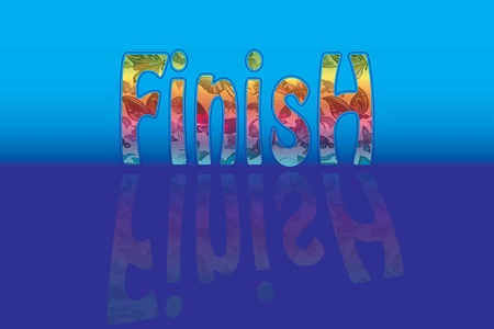 finish text Vector