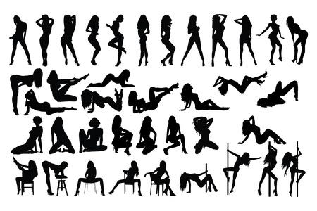 ballerini: donna che balla Vettoriali